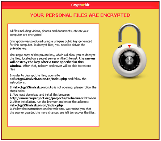 Cryptorbit warning
