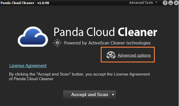 Cloud Cleaner Advanced options