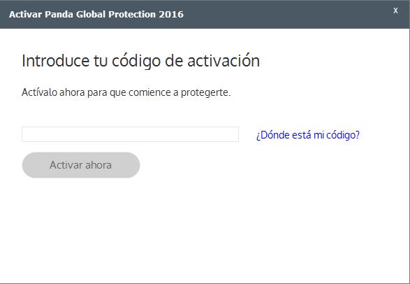 accedo a Panda 2015, me solicita introducir mi Código de Activación