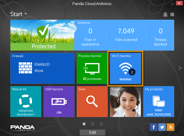 Wi-Fi monitor Cloud AV