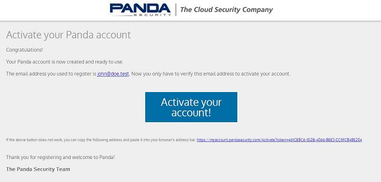 Mail Activate Panda Account