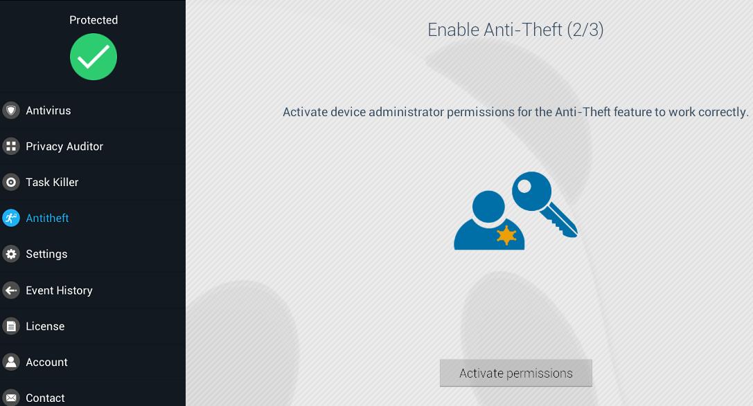 Activate permissions