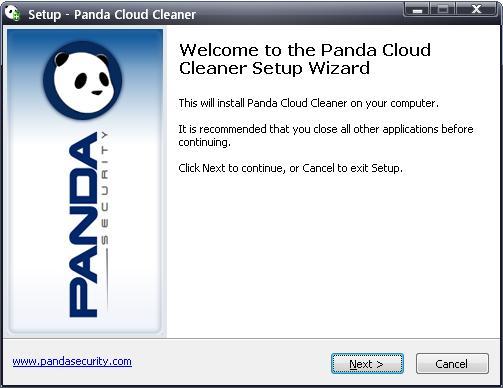 Panda Cloud Cleaner bienvenida
