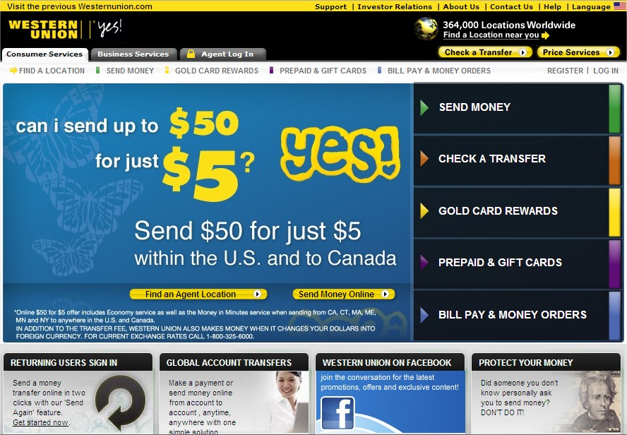 how to send money anonymously western union