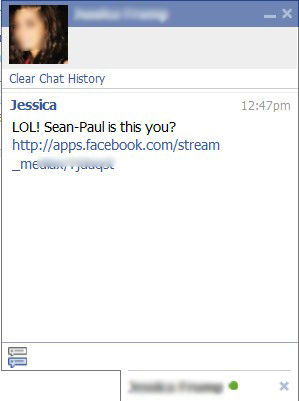Facebook Chat Phishing Spam