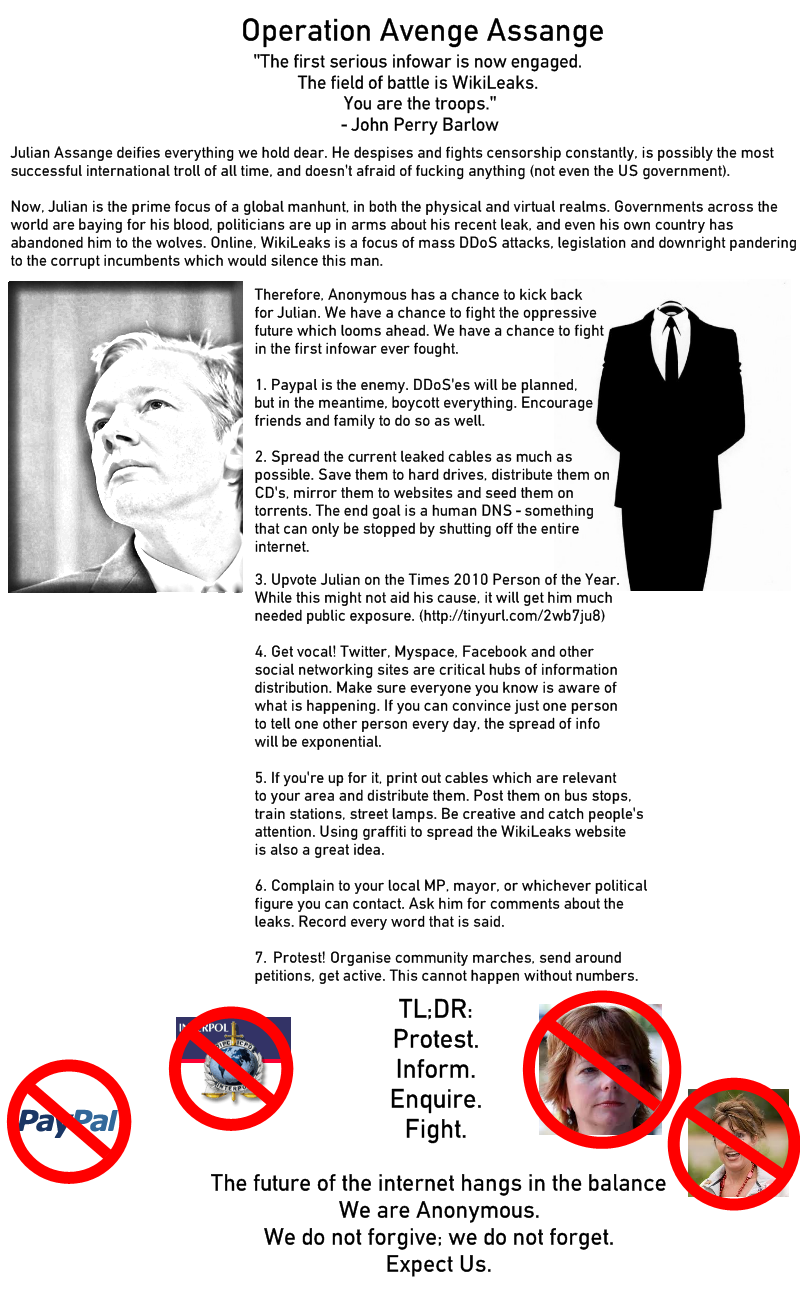 Operation Avenge Assange (click for full size)