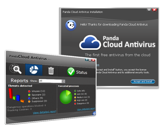 Интерфейс panda cloud antivirus