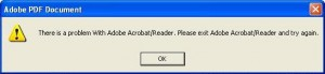 Adobe Reader Error