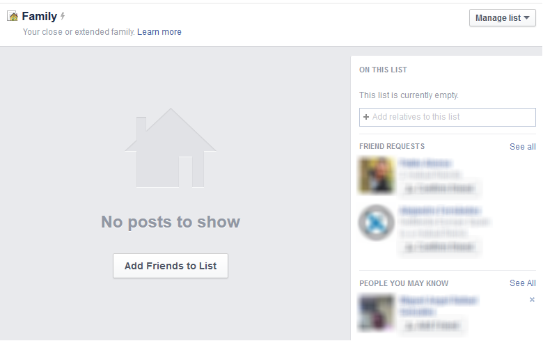 Añadir amigos lista Facebook