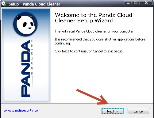 Panda Cloud Cleaner - Welcome