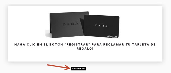 """500€ Zara gift card"", new scam on Facebook."