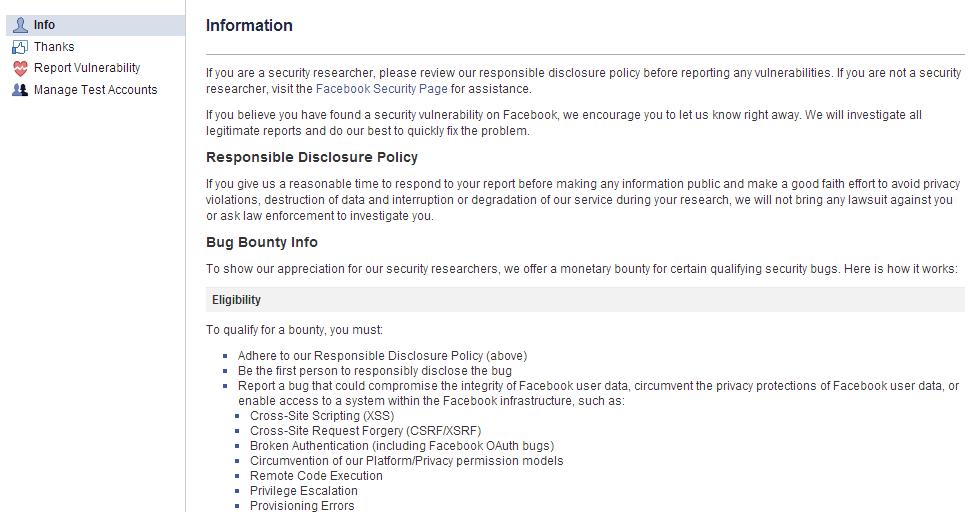 facebook bounty program
