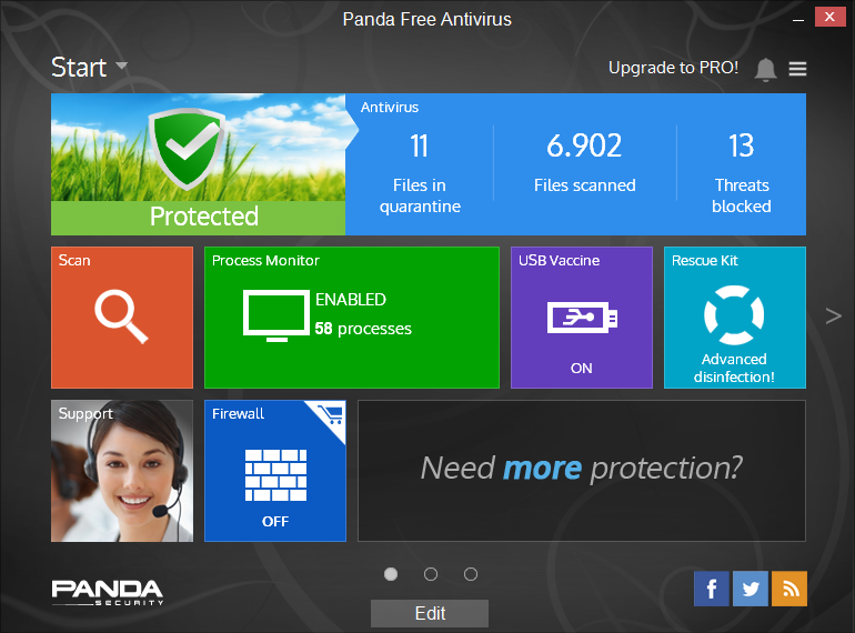 Panda Cloud Antivirus Free Edition screenshot