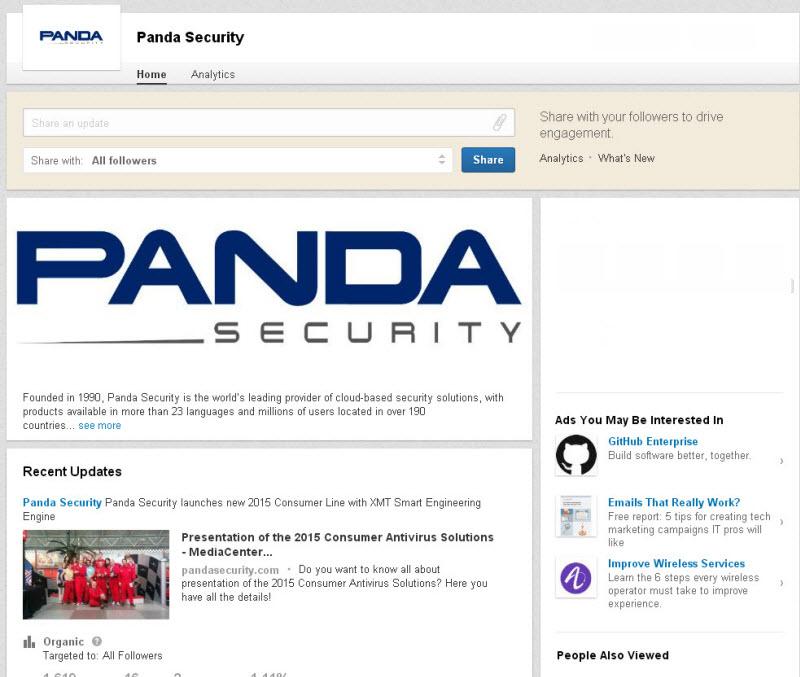 linkedin panda security profile