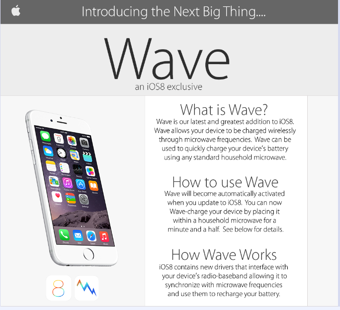 wave iphone 6 apple