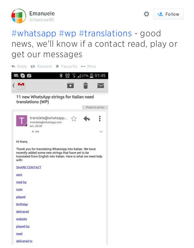 whatsapp read by