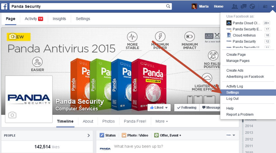 how to change login settings on facebook
