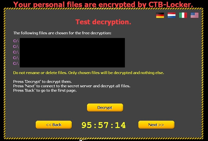 personal file encrypted