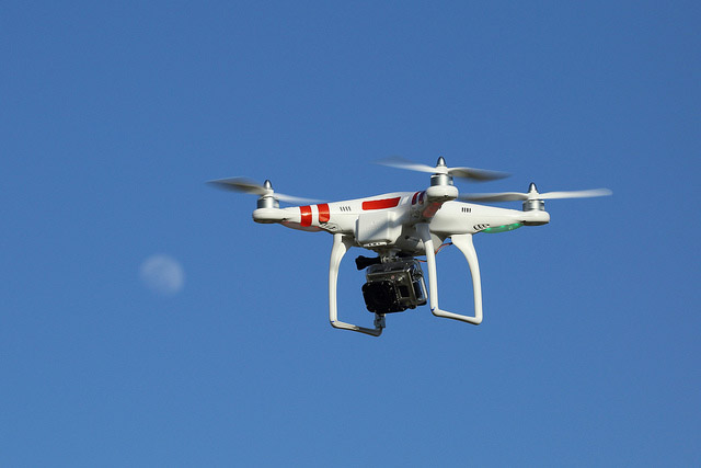 dron flying