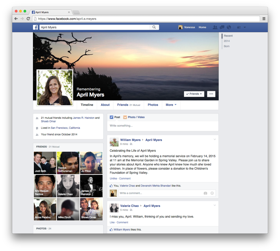 how to tell if a facebook account is memorialized