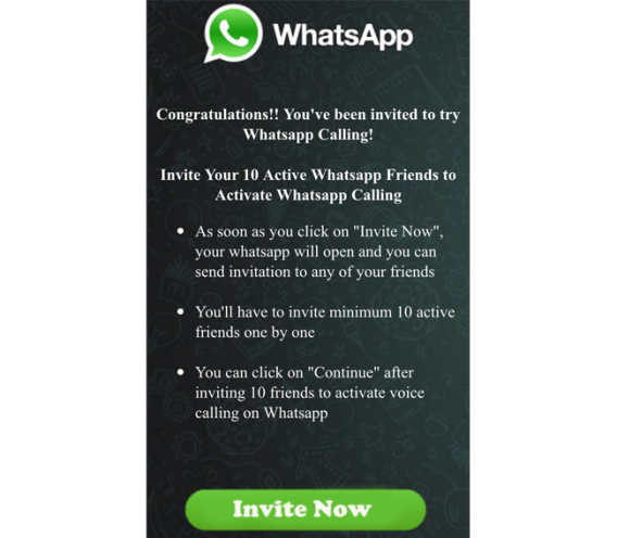 whatsapp calling scam
