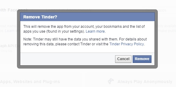 facebook remove