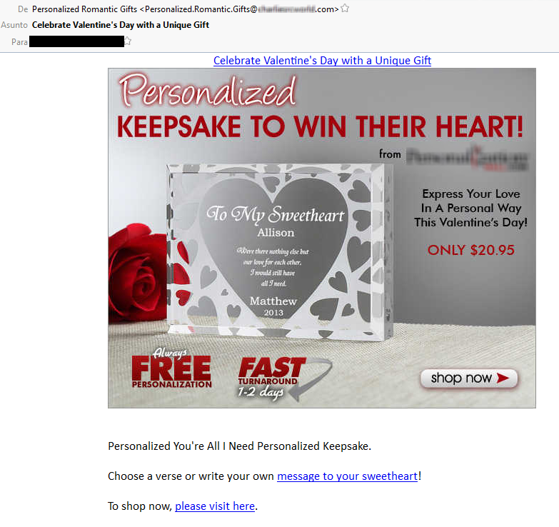 san valentin spam