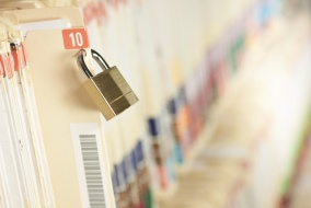 Secure Medical Records. Concept image. Narrow depth of field.