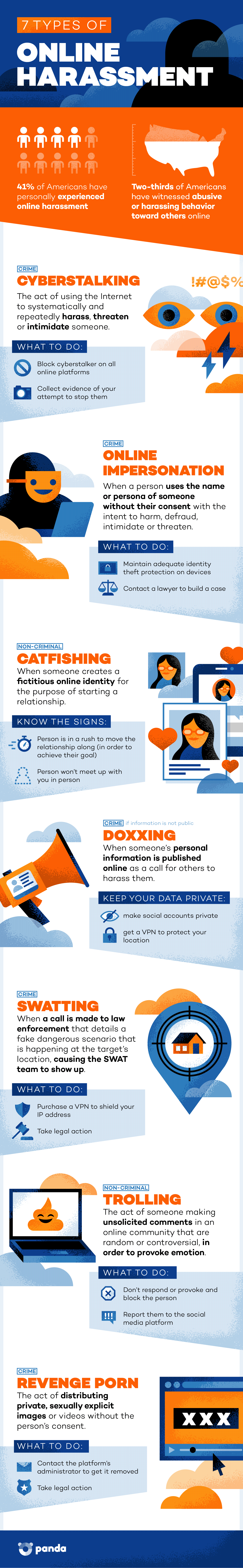 info on how to handle and prevent harassment