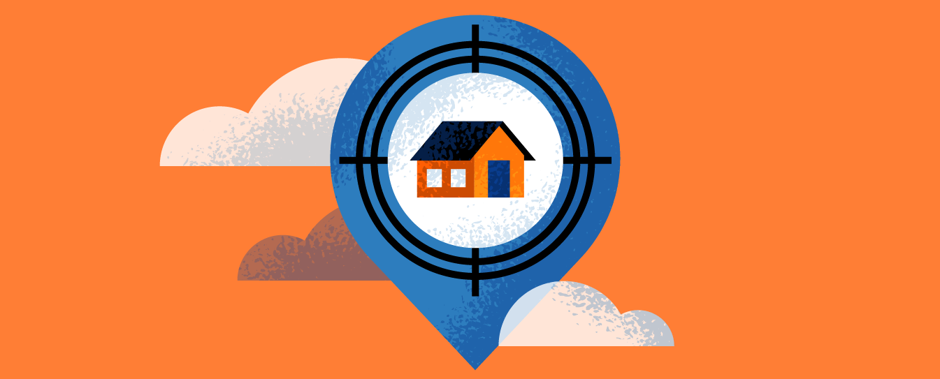 graphic of a target with a home in it