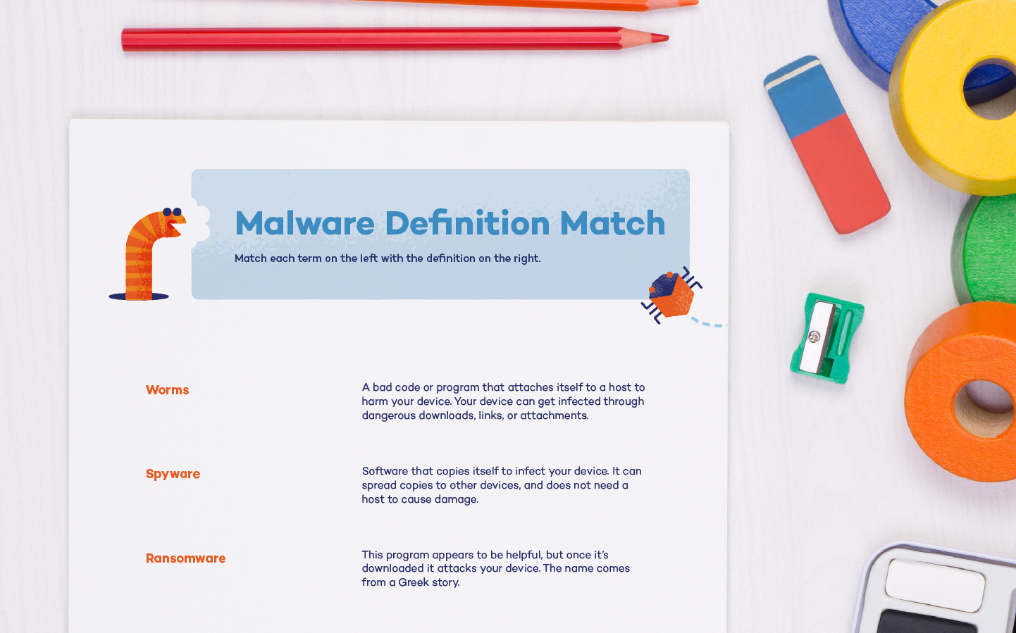 photo of a malware definition match