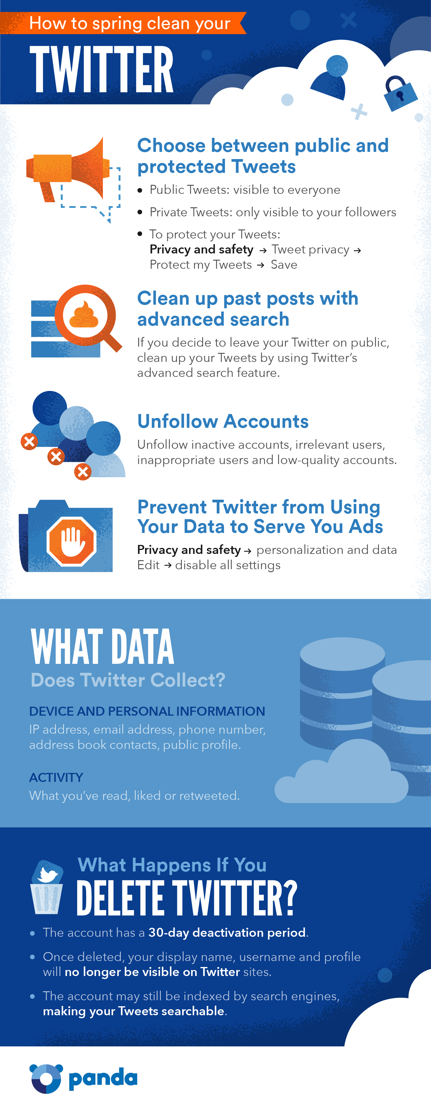 How to spring clean your twitter infographic