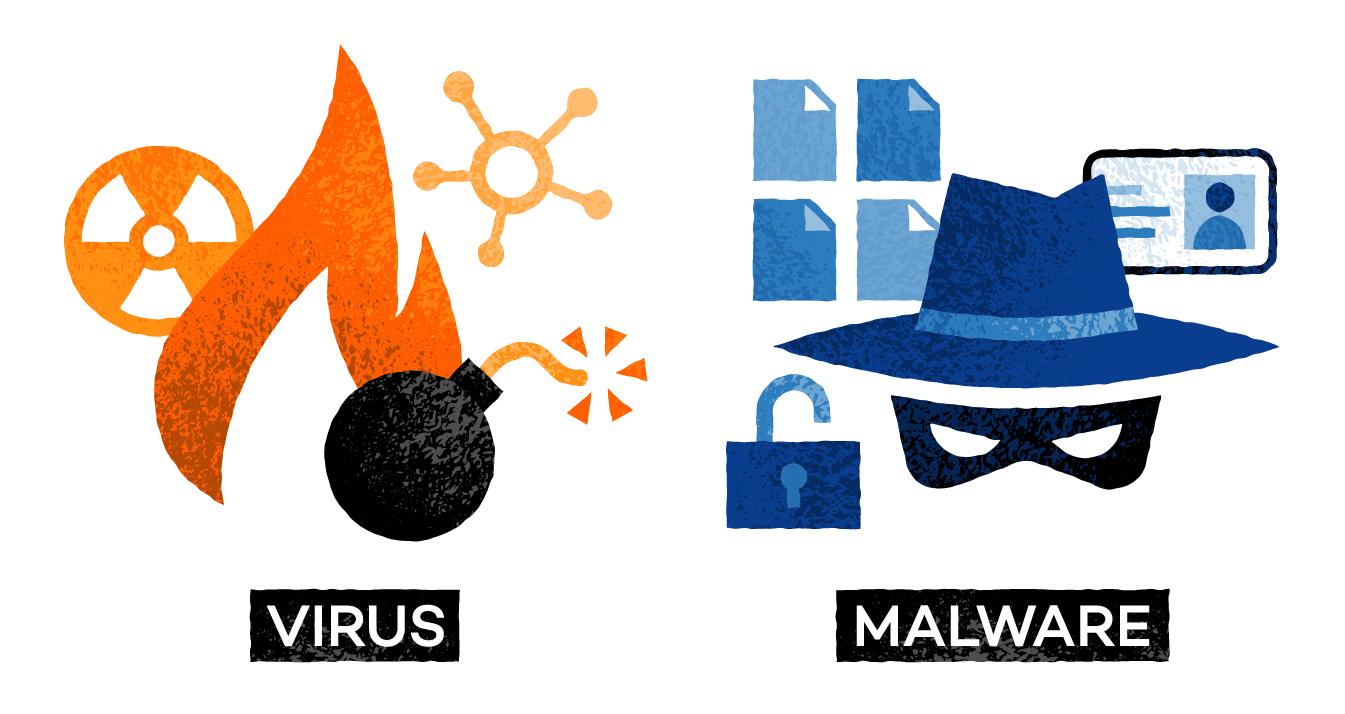 virus vs malware
