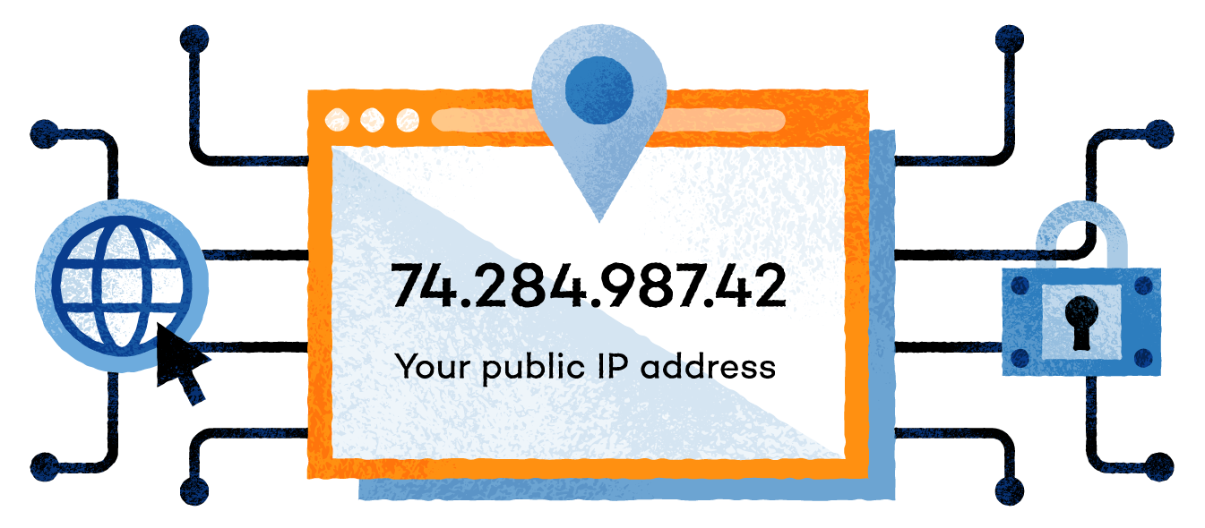 visual showing screen with IP address