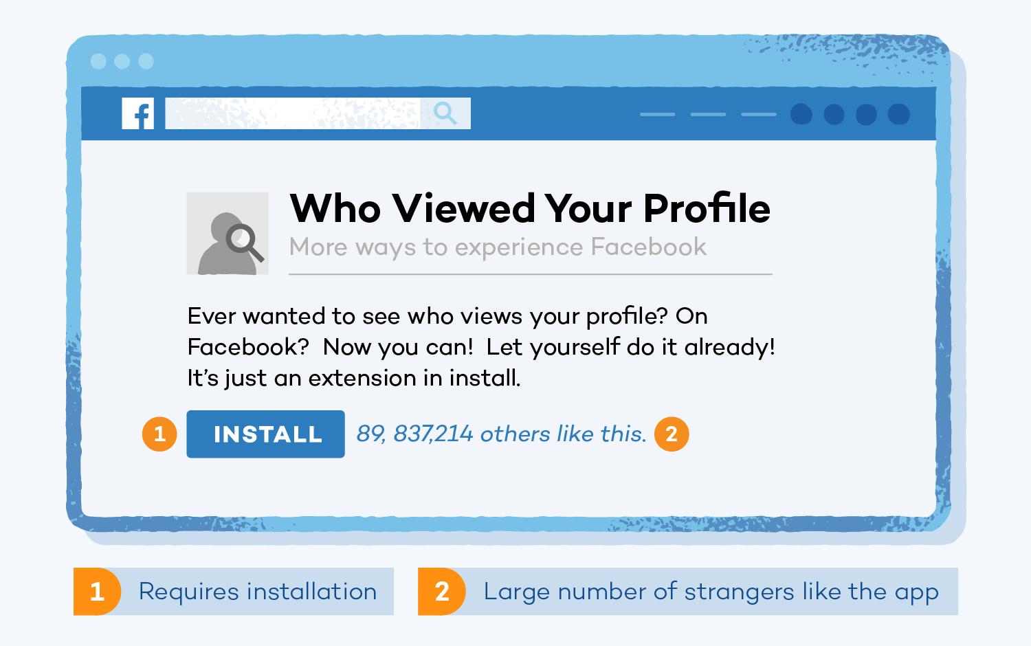 see who's viewed your profile scam example