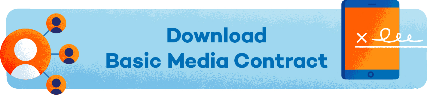 button that says download basic media agreement