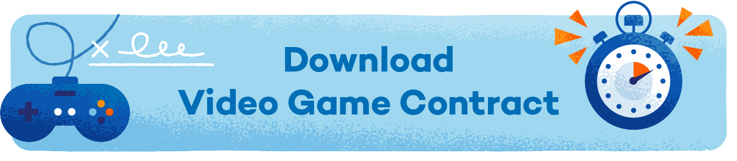 button that says download video game contract