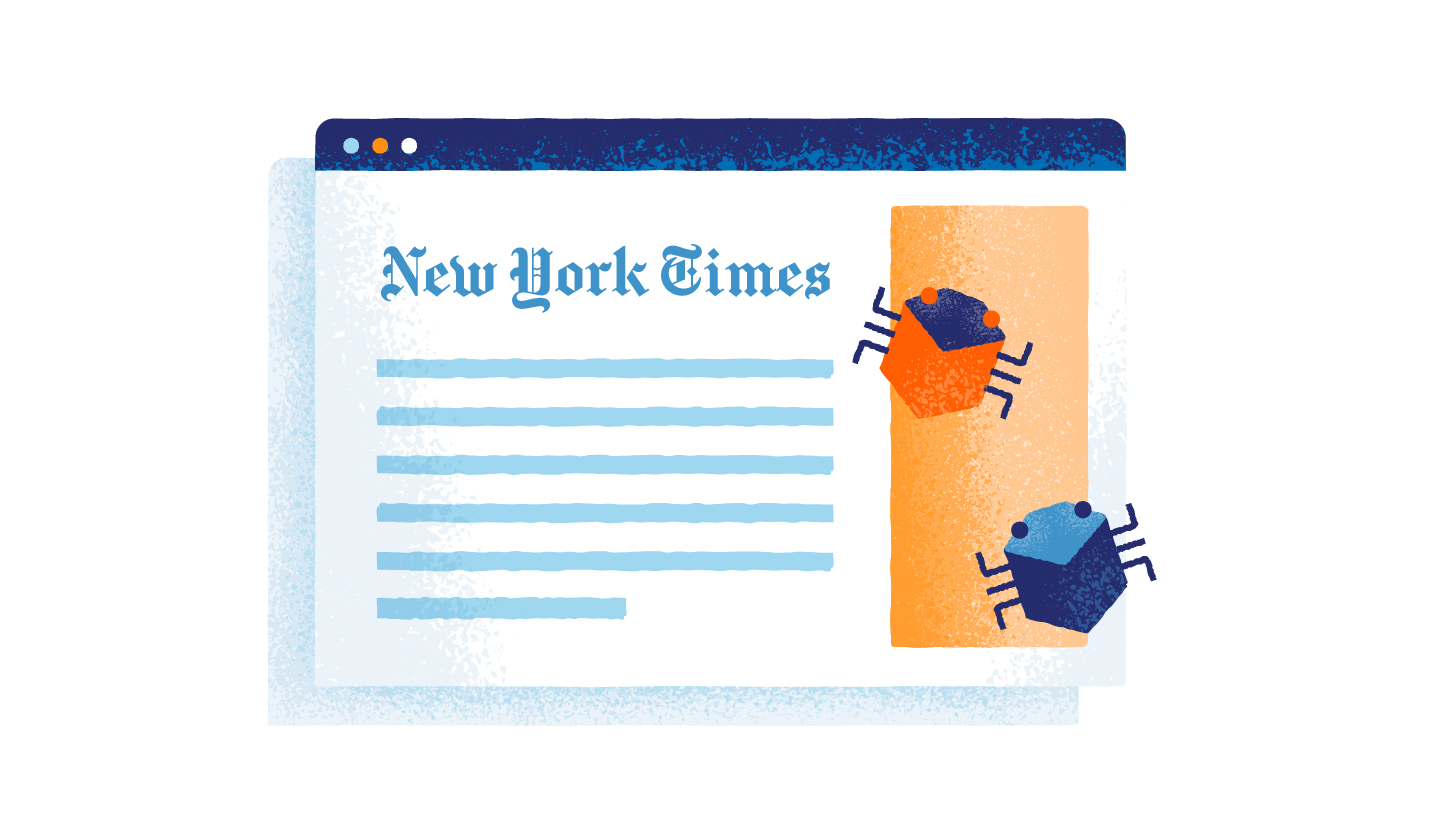 bugs on an online newspaper