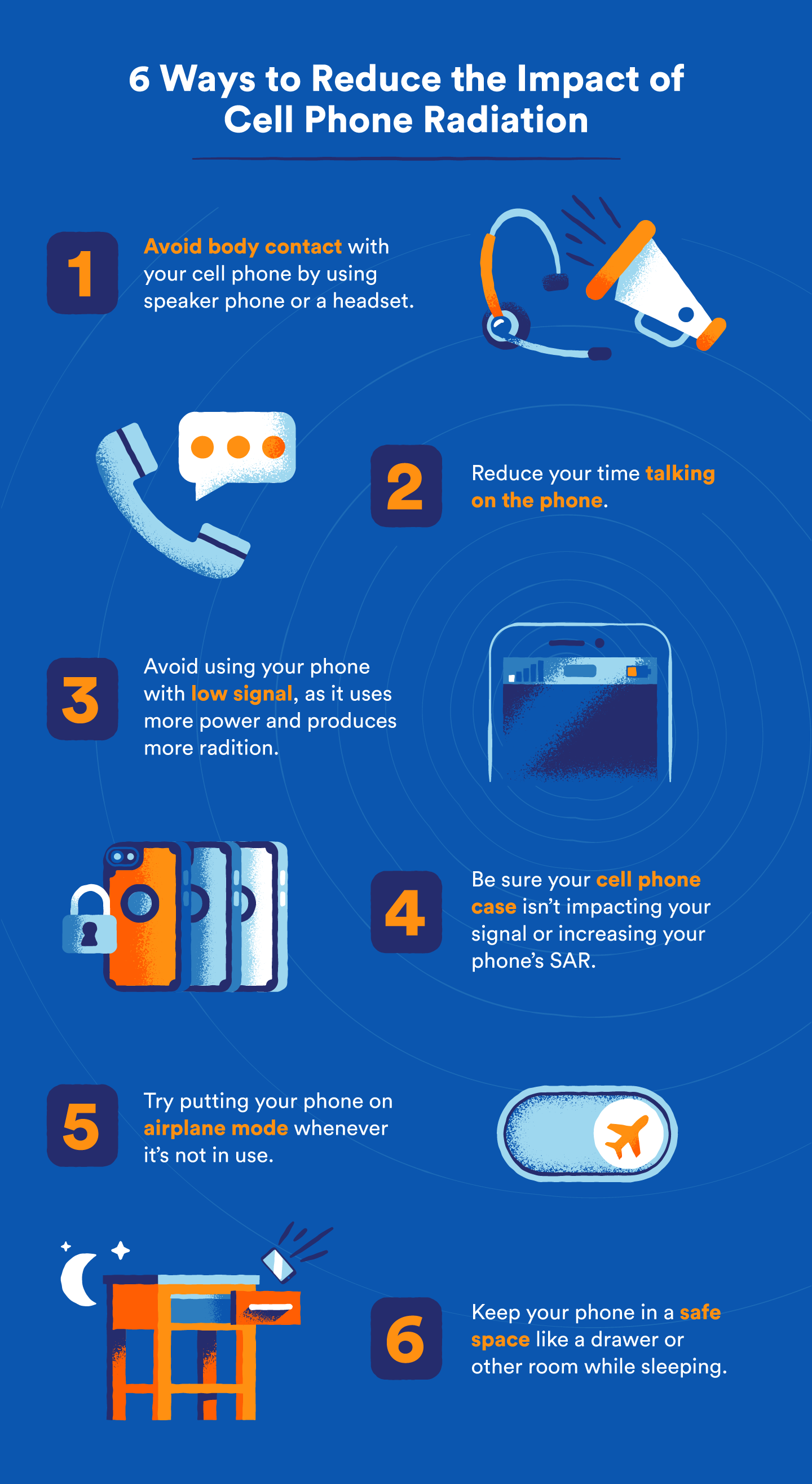 how to reduce cell phone radiation