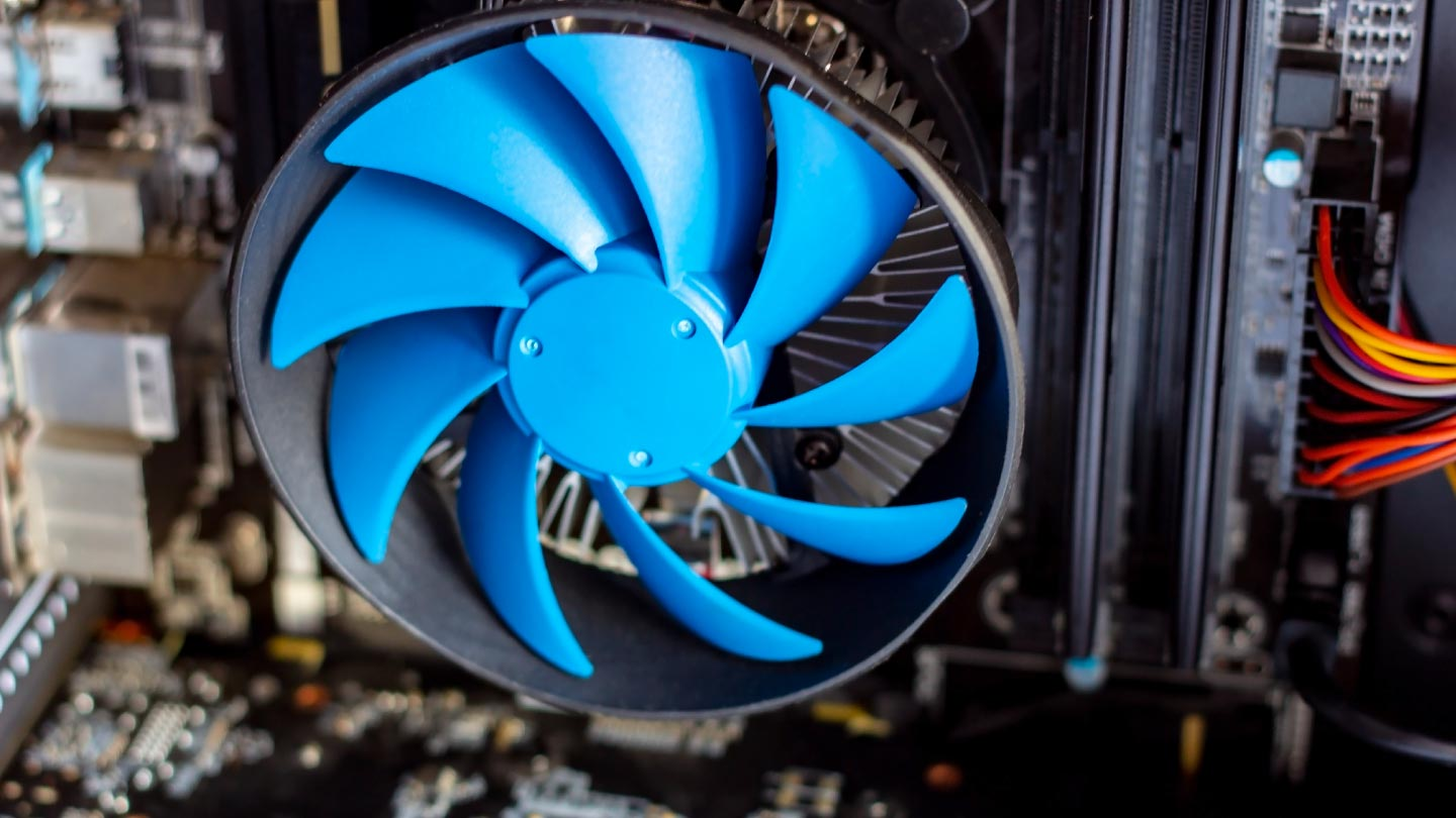 photo of a new cpu cooler fan