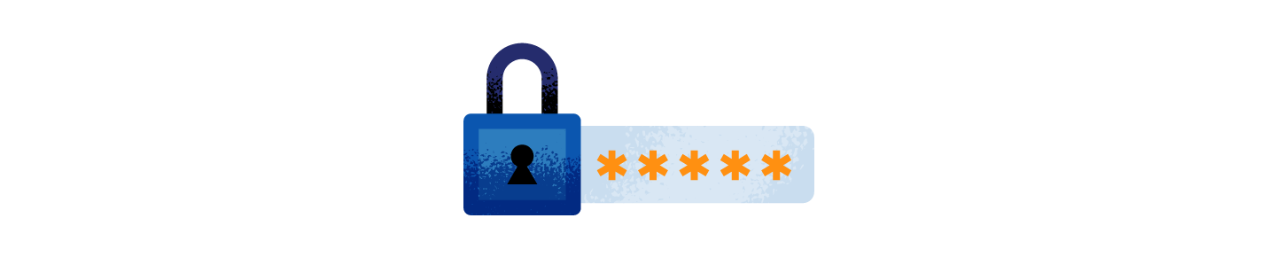 graphic showing secure password