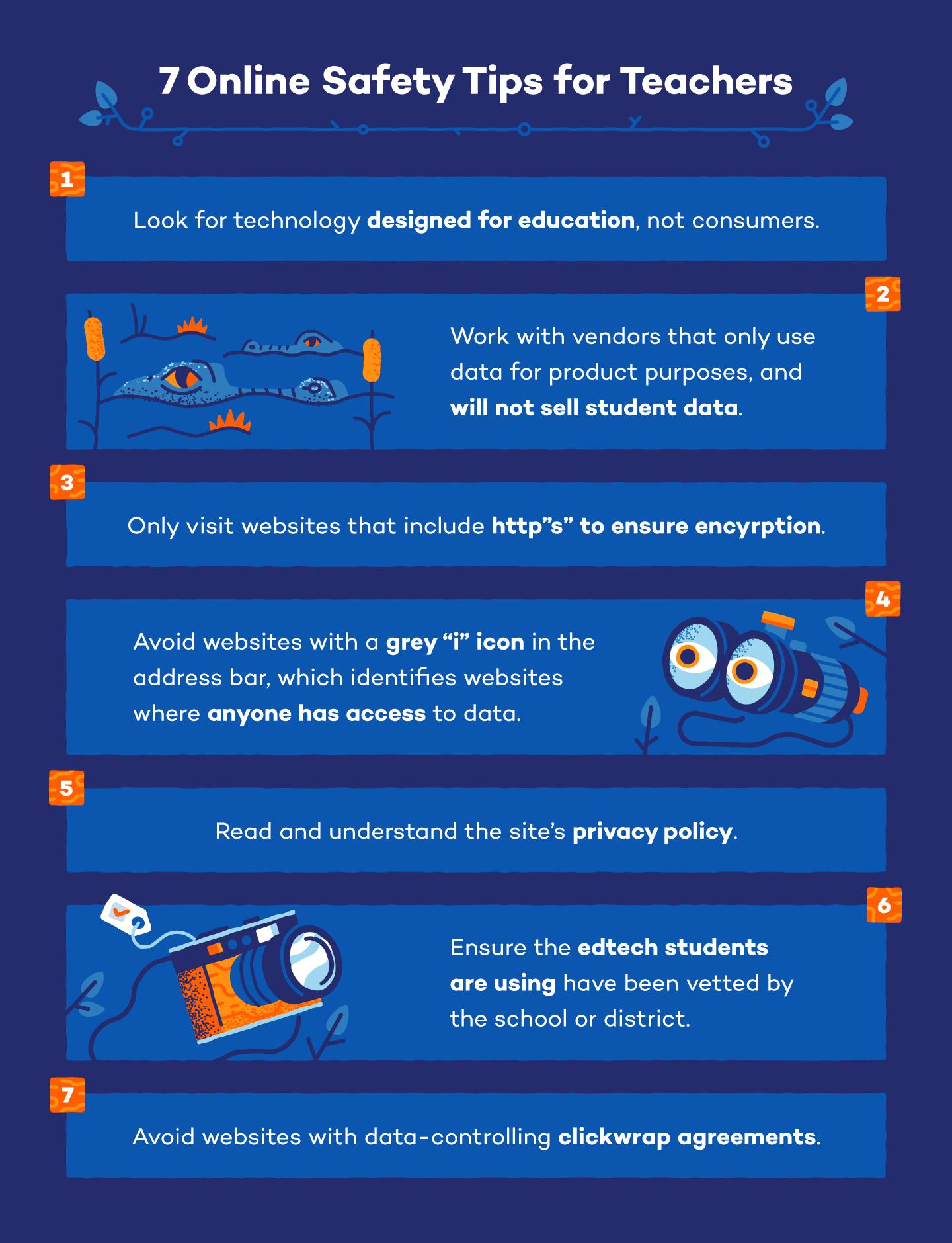 7 online safety tips for teachers