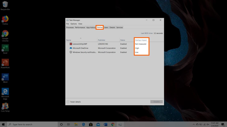 Windows cihaz adım 2'de ram'ın nasıl boşaltılacağının ekran görüntüsü