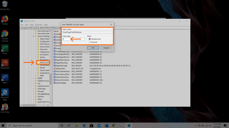 Windows cihaz 4. adımda ram'ın nasıl boşaltılacağının ekran görüntüsü