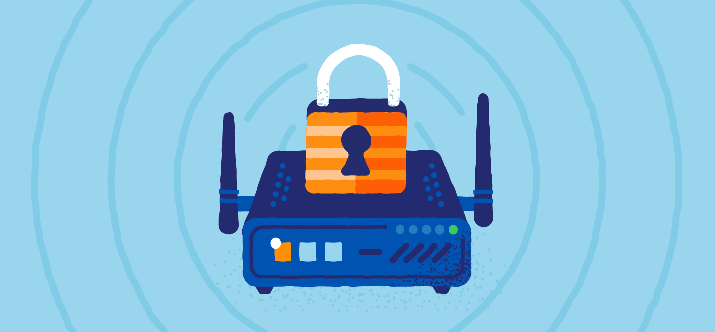 graphic showing router security