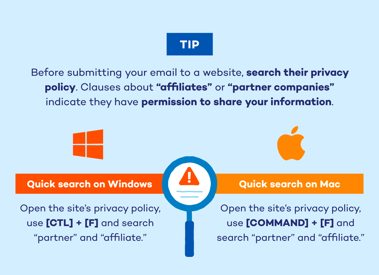 search the privacy policy for partner companies that buy your data