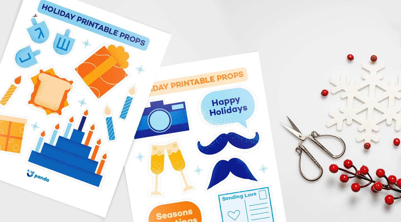 holiday printable props