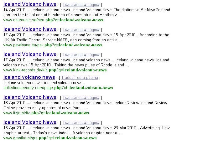 Resultados maliciosos en Google