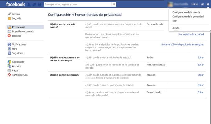 Configuración de privacidad en Facebook: Cómo compartir la información