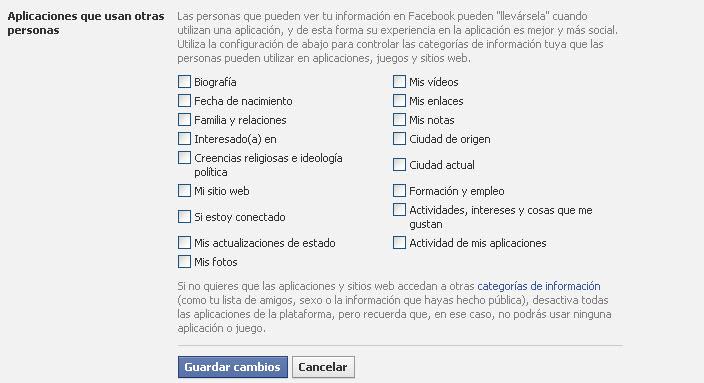 aplicaciones en facebook